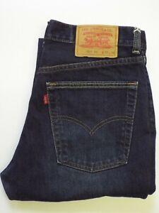 Levi-039-s-525-Jeans-Damen-Bootcut-w32-l30-dunkel-blau-strauss-levq-356