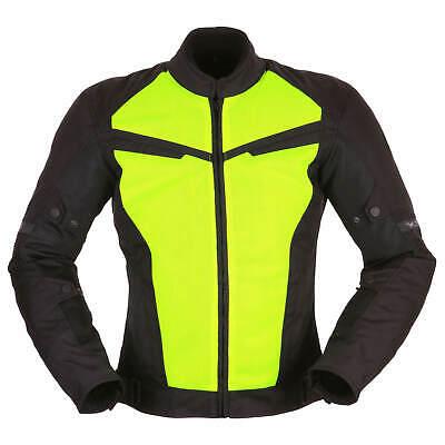 Amichevole Modeka X-vent Uomo Giacca Moto Tessile Sport-nero Giallo Neon-mostra Il Titolo Originale Alta Resilienza