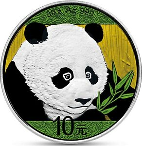 China-Panda-2018-Silber-10-Yuan-30-g-in-Muenzkapsel-Silbermuenze-in-Farbe