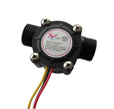 1Pcs New 1-30L/min 1.75MPa Water Flow Sensor Flowmeter Hall Flow Water Sensor