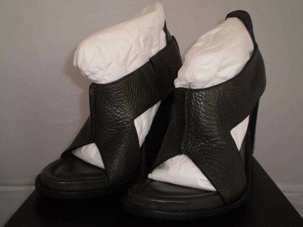 530 NIB ALEXANDER WANG Größe 7 8 8 8 9 10 leather schuhe sandals Authentic 64cb4e