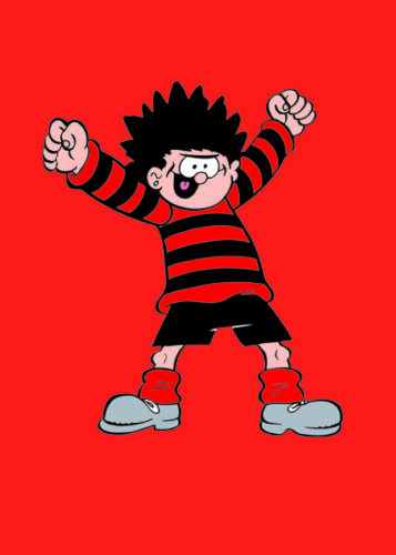 DENNIS THE MENACE BEANO GREETING CARD NEW IN CELLO