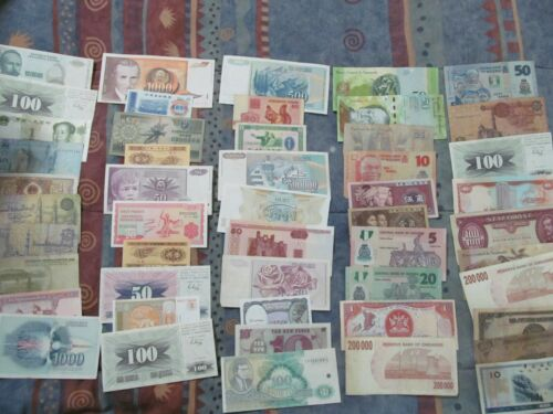 roughly Mostly Different 20  World Paper Money Banknotes 65/% uncirculated