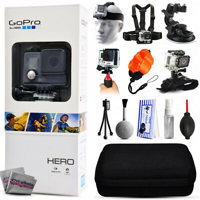 GoPro HERO Action Camera + 5 Mounts, Stabilizer Grip, Case, Cleaning Kit