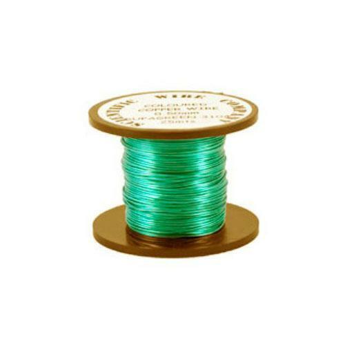 0.5mm 15m Copper Craft Alambre Turquesa Bobina Accesorio bricolaje artesanías de fabricación de joyas