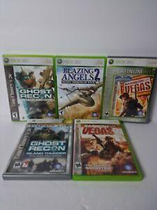 Xbox 360 Live Ghost Recon, Rainbow Six 1&2 Blazing Angels 2 & Endwar Bonus Lot