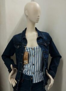 vento Tejano Denim a 42 Women New Jacket Item taglia lunga manica giacca g6P6vTx