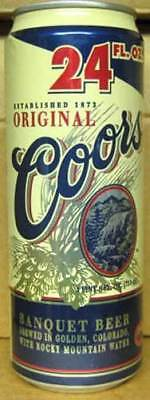 COORS ORIGINAL BANQUET BEER empty 24oz CAN Golden COLORADO, 1/1+ 1997