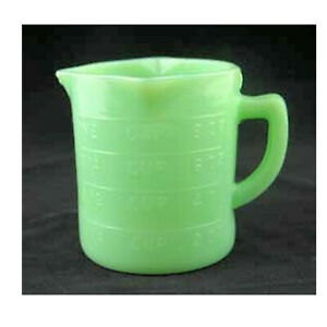 Jadeite Jadite Green Milk Glass 1 Cup Embossed Measuring Cup 3 Spouts