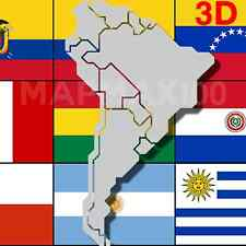 South America  2017.10 3D FOR GARMIN GPS DEVICES All Countries Latest Maps