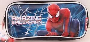 Marvel-The-Amazing-Spider-Man-2-Kids-Boys-Black-Blue-Pencil-Pen-Case-NWT
