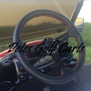Details about Club Car Onward Black Comfort Grip Steering Wheel/Hub  Adapter/Chrome Cover Kit