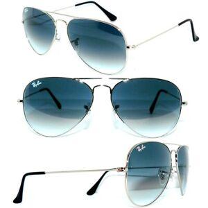 Ray-Ban-RB-3025-003-3-f-gafas-de-sol-gris-plateado-azul-historial-senores-mujer-nuevo