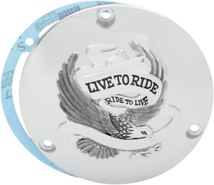Drag Specialties 1107-0155 Live to Ride Derby Cover Chrome