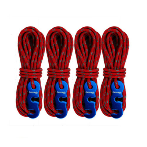 Reflective Tent Ropes Outdoor Camping Hiking Adjustable Buckles Canopy