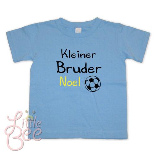 NEU ! Größe Baby T-Shirt Kleiner Bruder Farbe Wahl: Motiv Wunschname