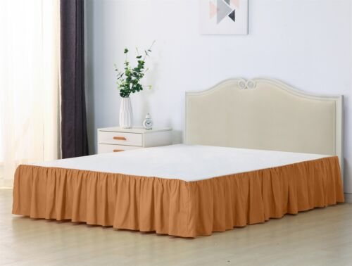 Bed Skirt Queen Full Twin Elastic Ruffle Bed Cover Dust Wrap Around Easy Fit