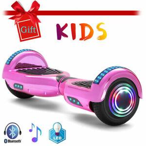 Hoverboard Rosa 6,5 Zoll Elektro Scooter Bluetooth LED Räder Lichter Für Mädchen