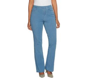 0839616ca68 Isaac Mizrahi Live! Tall 24 7 Denim Boot Cut Jeans Size 10 Light ...