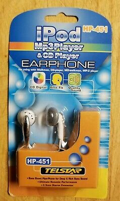 Telstar Earbud Headphones Hp-451 For Digital Cd/mp3/ipod New & On Sale Music To Suit The PeopleS Convenience