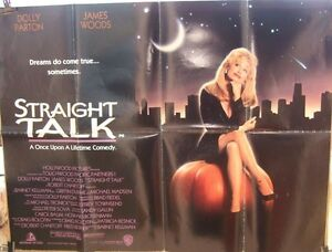 Dolly-Parton-STRAIGHT-TALK-1992-Original-UK-quad-movie-poster