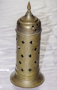 VINTAGE-ANTIQUE-215MM-BRASS-CANDLE-HOLDER-FROM-THE-MIDDLE-EAST