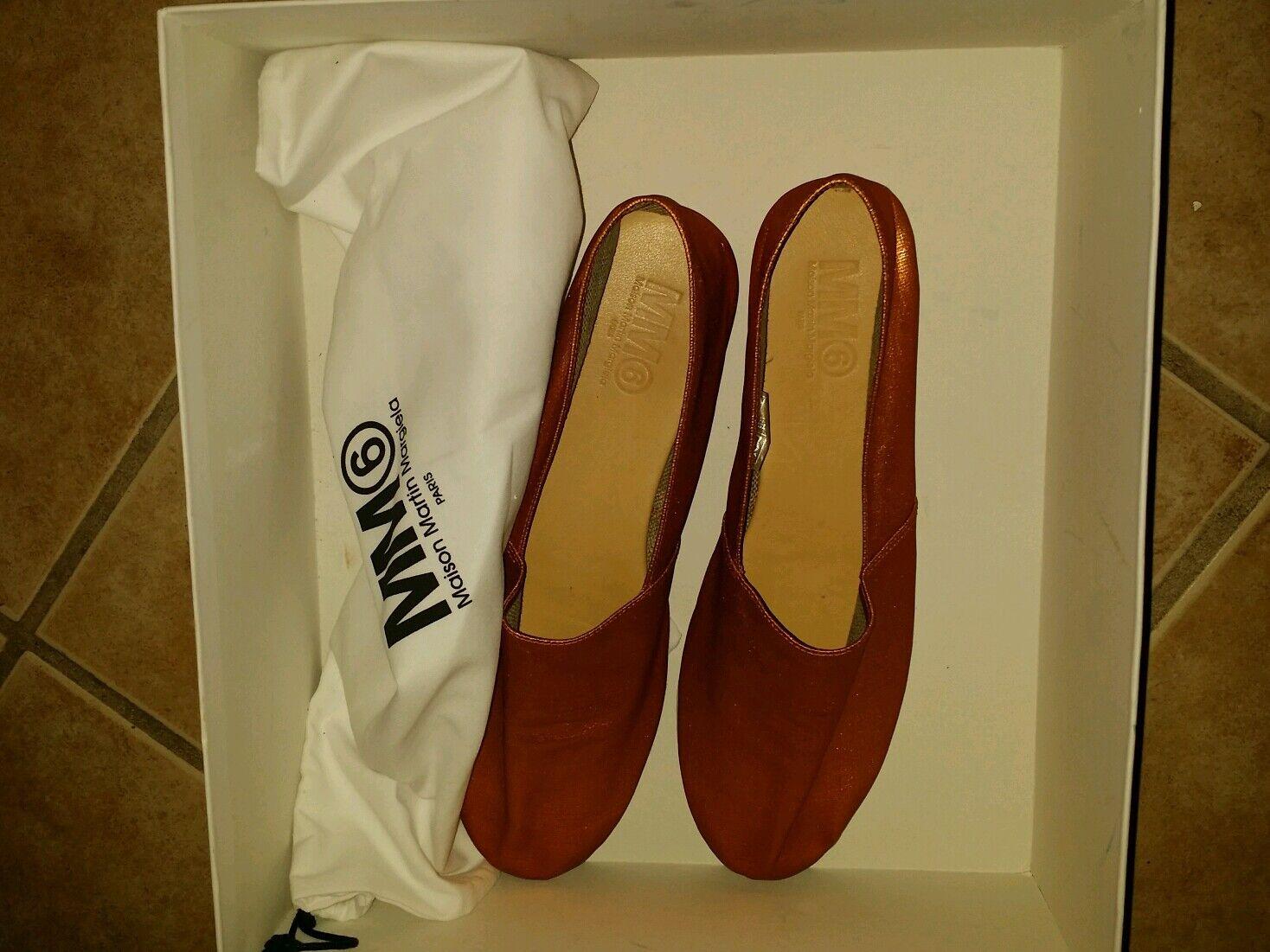 NIB MM6 MAISON MARTIN MARGIELA LOAFERS Women's US Size 7 Euro Size 37-38  shoes