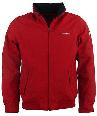 NWT TOMMY HILFIGER men's Jacket, L, Large, Red, Full Zip, Hood, Front Pockets