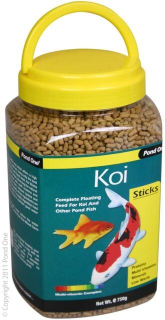 Pond One P1-26562 Koi Sticks 750g Bottle for Pond Fish