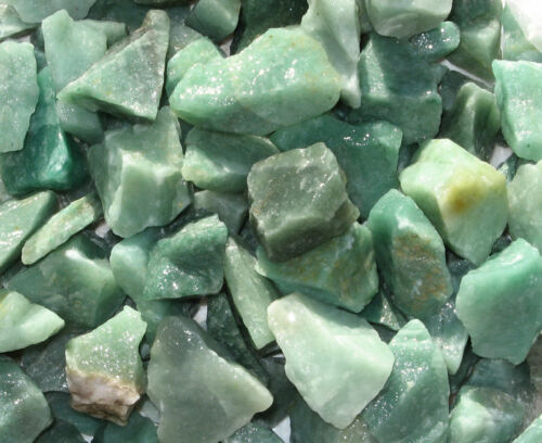 1//2 lb GREEN QUARTZ Natural PRASIOLITE Rough Rock for Tumbler tumbling BRAZIL