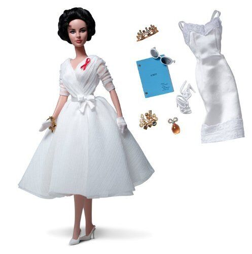 Beautiful Silkstone Elizabeth Taylor Weiß Diamonds Diamonds Diamonds Barbie giftset 60a8aa