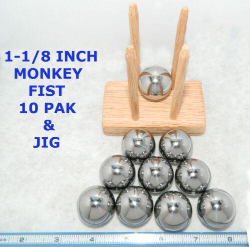 "Monkey Fist Jig mofiji Vitesse Pak dix Acier 1-1//8/"" boules /& Jig MADE IN THE USA"