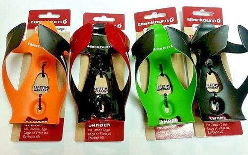 New Blackburn Carbon UD Bottle Cage Matte Black,Green,Orange/&Glossy Red Sealed