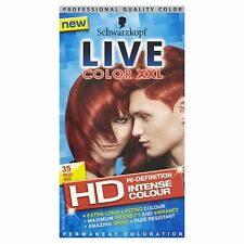 4 X Schwarzkopf Live Color HD XXL Colour Intense Real Red 35