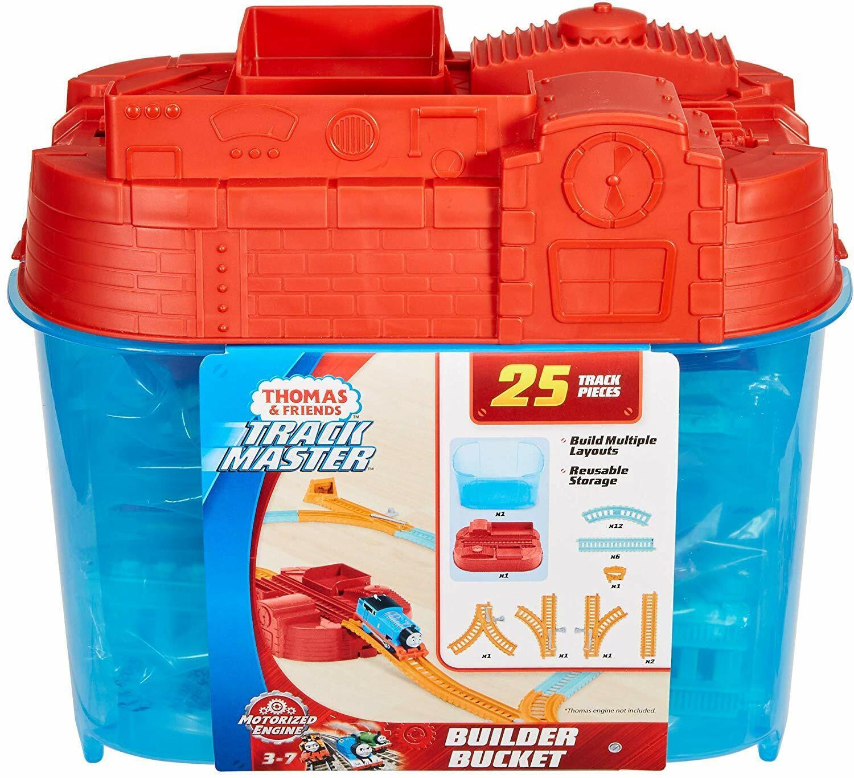 Thomas y Sus Amigos Pista Master Constructor Cubo 25 Piece Vías Férreas Cofre