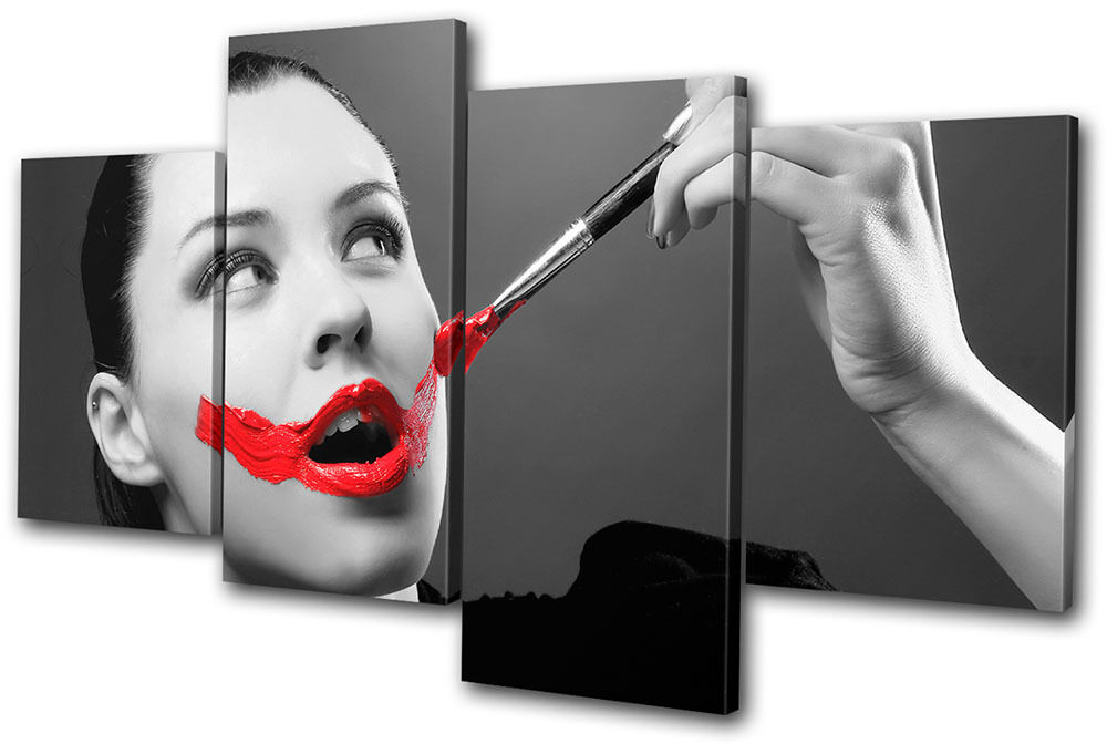 Fashion Painted Lips NUDES MULTI Leinwand Wand Kunst Bild drucken