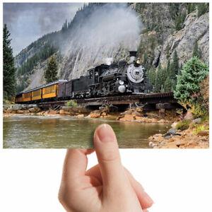 American-Steam-Train-Bridge-Small-Photograph-6-034-x-4-034-Art-Print-Photo-Gift-2180