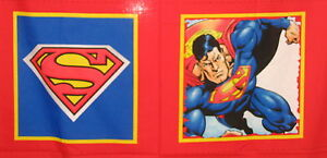 Superman-pillow-panels-The-incredible-Superhero-cotton-quilting-fabric-Choose
