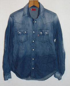 LEVI STRAUSS HERREN Jeans Hemd in Gr. S Levis Levi's Blau