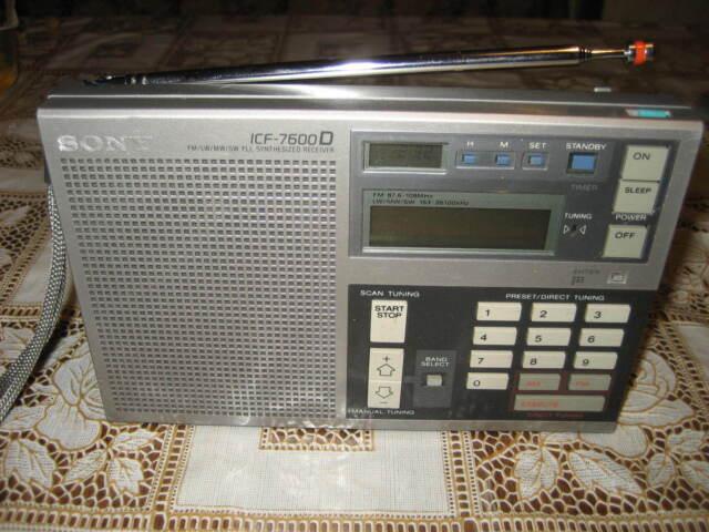 SONY WELTEMPFÄNGER RADIO ICF 7600D