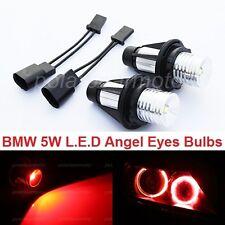 5W Bright Red Angel Eyes LED Bulbs Lights Lamps For BMW E39 E53 E61 E64 E66 E83