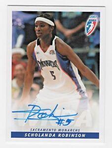 2007-WNBA-Autograph-14-Scholanda-Robinson-Sacramento-Monarchs
