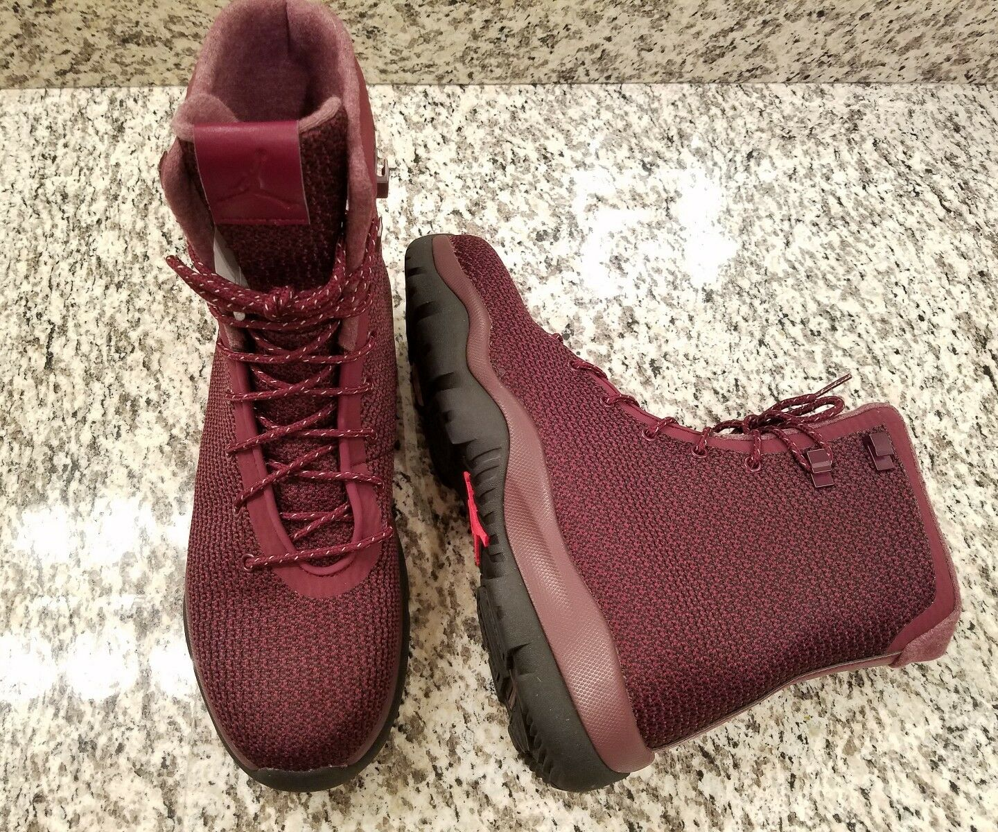 New Nike Air Jordan Future Boots 9.5 Maroon Burgundy Black 854554-600 waterproof