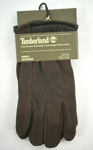 Timberland Mens Lined Goat Suede Leather 5 Finger Nubuck Touch Screen Gloves New