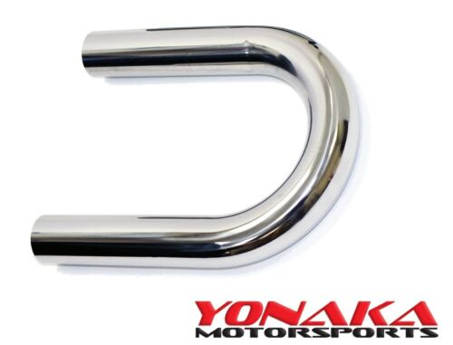 "Yonaka 2.5/"" Polished 304 Stainless 180 U Degree Mandrel Bend Piping Pipe Tube"
