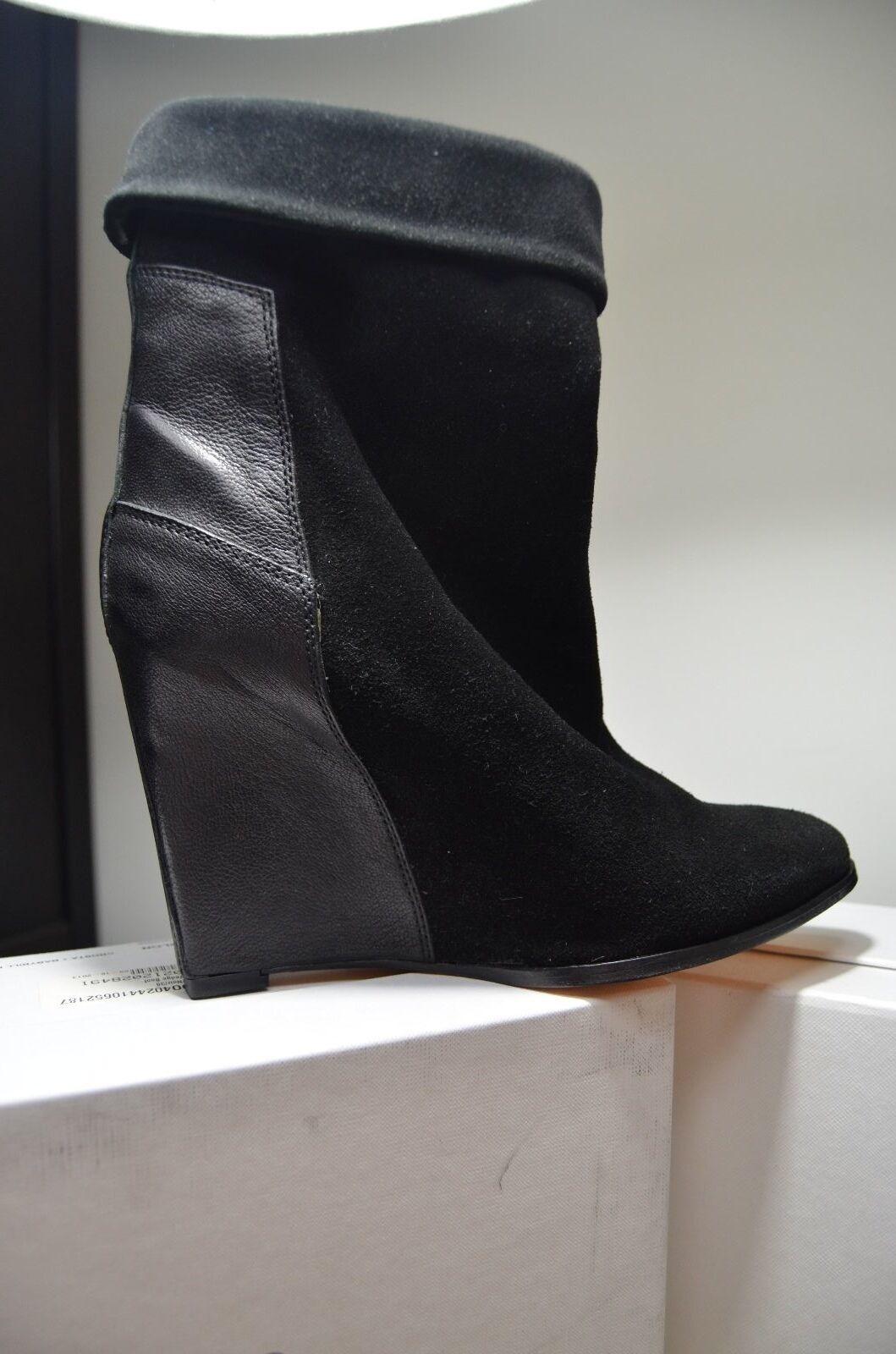Men's/Women's IRO Darlon Wedge Boot 38 Black Rich design low cost Caramel, gentle