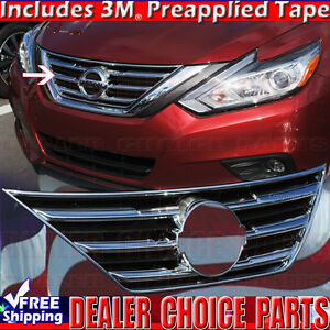 Fits-2016-2017-2018-NISSAN-ALTIMA-Chrome-Grill-OVERLAY-Cover-Insert-Upper-Bumper