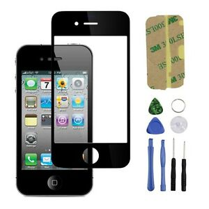 repair iphone glass black front replacement part lcd glass tools kit screen 12859