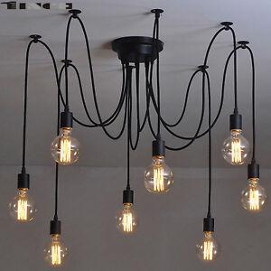 68 head vintage industrial spider chandelier pendant ceiling light la foto se est cargando 6 8 head vintage industrial spider chandelier pendant aloadofball Image collections