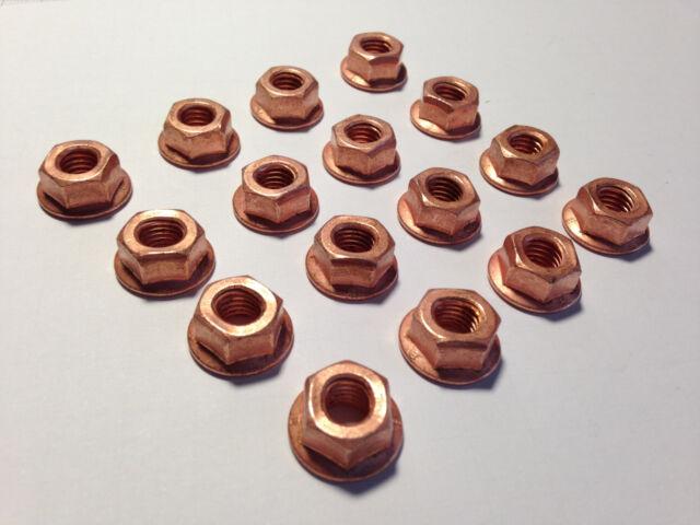 12 Stück Auspuffmutter, Kupfermutter M8 , Aufdrehmoment reduziert ! Turbomutter